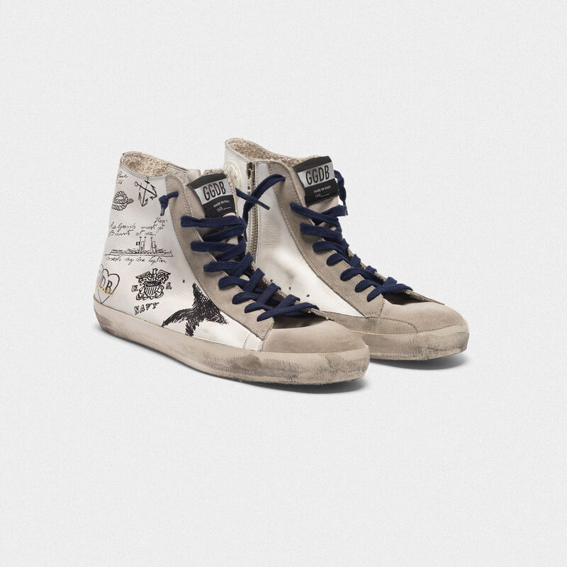 Golden Goose - Sneakers Francy in pelle con stampe tattoo in  image number null