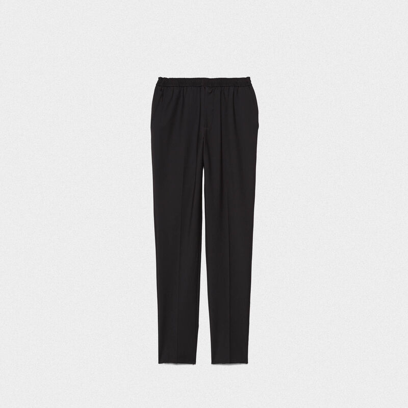 Golden Goose - Ryuu trousers in technical fabric with elasticated waist in  image number null