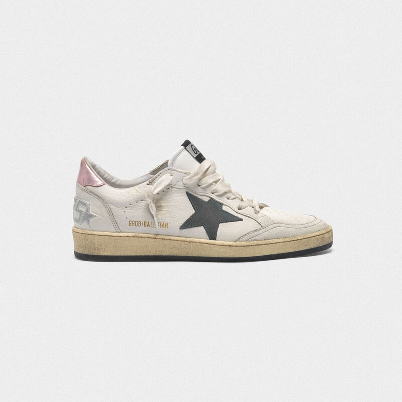 Golden Goose - Ball Star sneakers with suede star and pink heel tab in  image number null