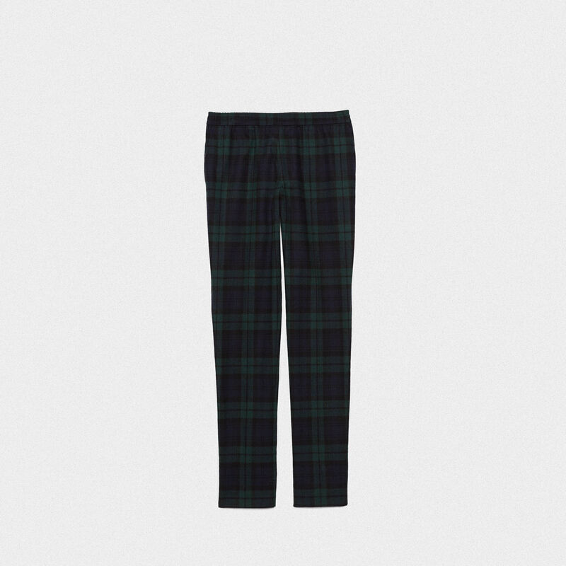 Golden Goose - Ryuu trousers in tartan with elasticated waist in  image number null