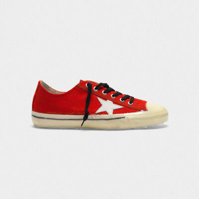 V-Star sneakers in leather covered in woollen cloth