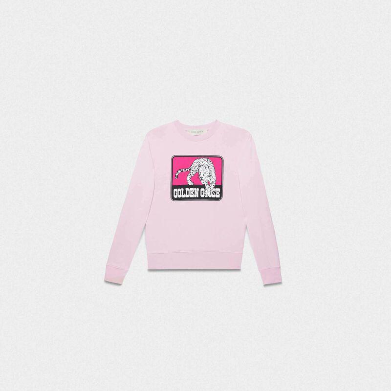 Golden Goose - Pink Catarina sweatshirt with jaguar print in  image number null