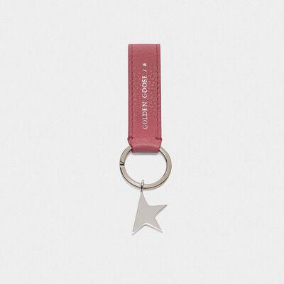 Portachiavi Star Keyring rosa con ciondolo argento