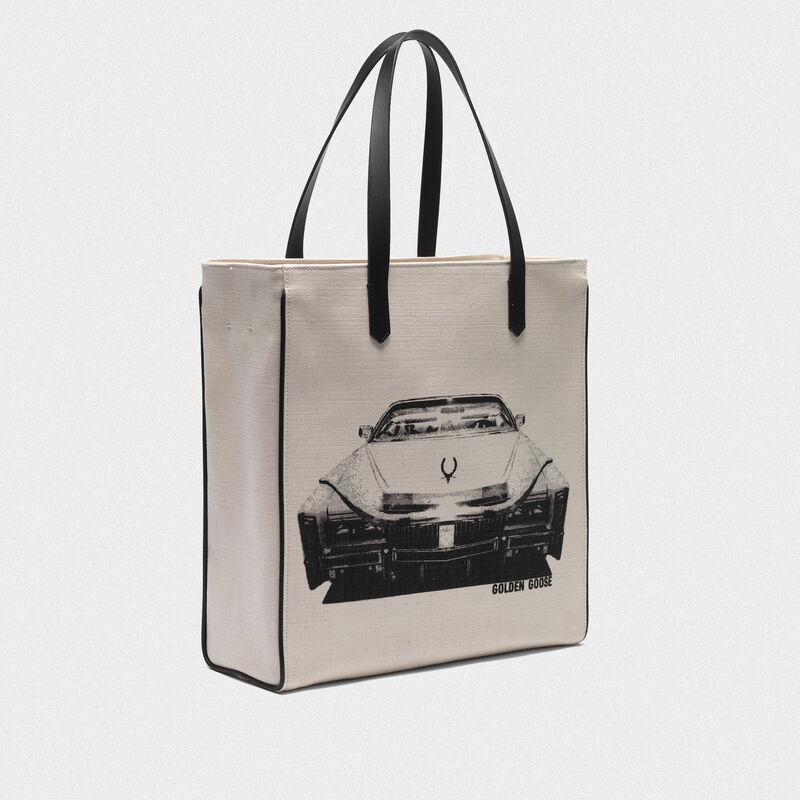 Golden Goose - Cadillac print North-South California Bag in  image number null
