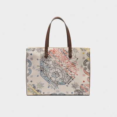 East-West California Bag with bandana print
