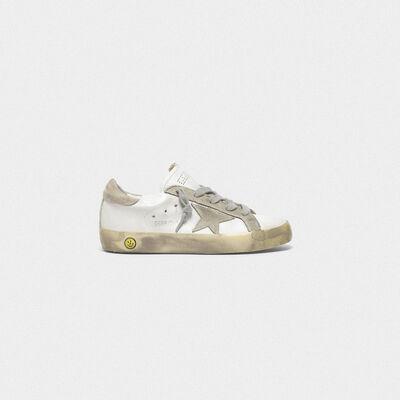 Sneakers Superstar con dettagli in camoscio