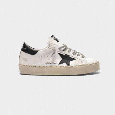 Sneakers Hi Star in pelle con black star