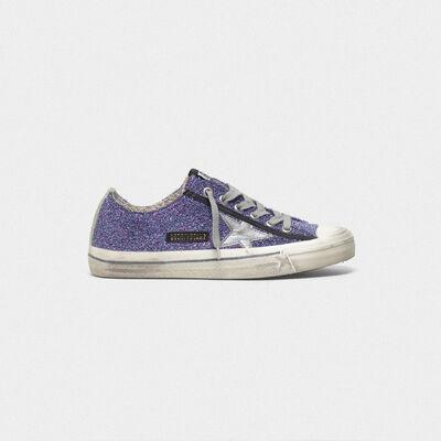 Sneakers V-Star con lavorazione di filamenti metalizzati