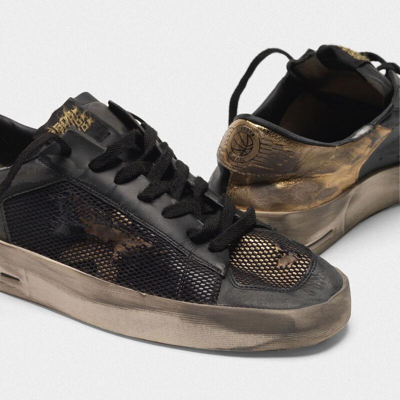 Golden Goose - Sneakers Stardan LTD in pelle con inserti in mesh distressed  in  image number null