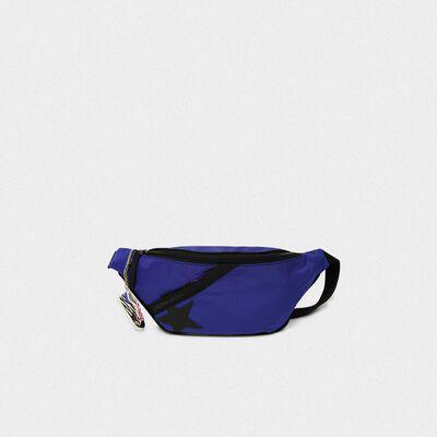 Royal blue nylon Journey belt bag