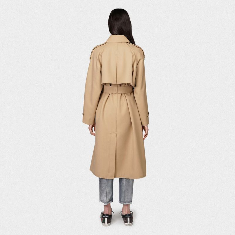 Golden Goose - Serenity trench coat with trekking-style drawstring   in  image number null