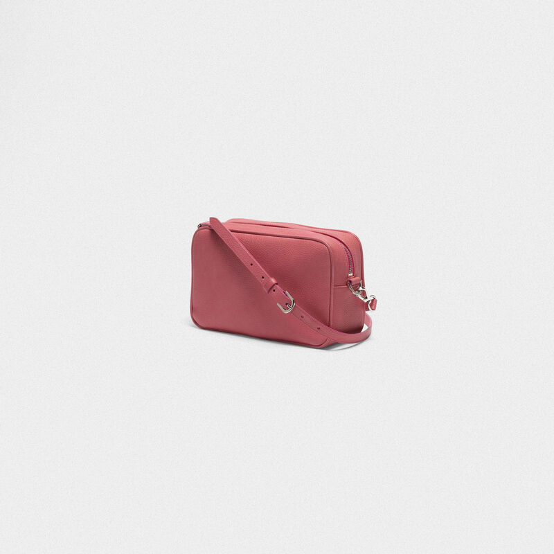 Golden Goose - Pink Star Bag with shoulder strap made of pebbled leather in  image number null