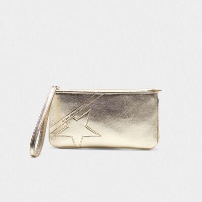 Silver Star Wrist clutch bag