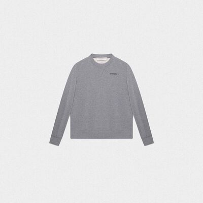 Grey Golden sweatshirt with sneakers lovers print on the back