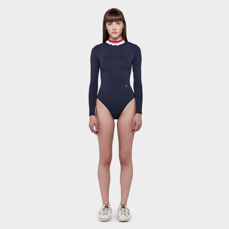 Golden Goose - Saori body-suit in a technical fabric with ribbed neckline in  image number null