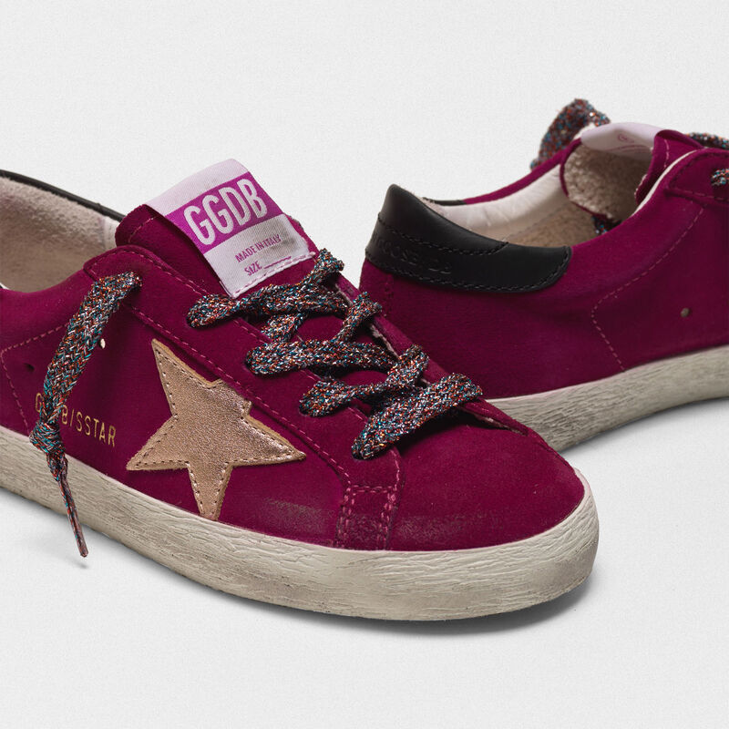 Golden Goose - Sneakers Superstar in pelle scamosciata e stella laminata in  image number null