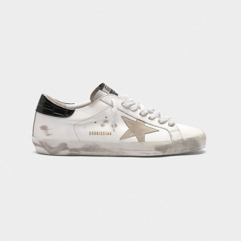 Golden Goose - Sneakers Superstar bianche con talloncino nero stampa cocco in  image number null