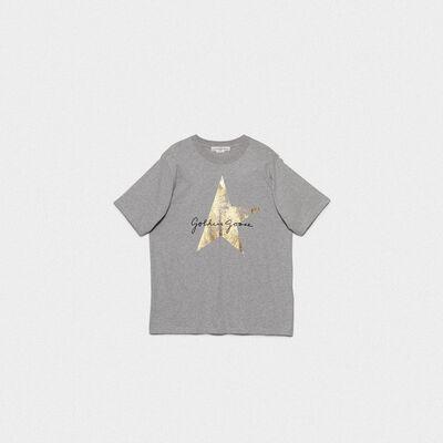 T-shirt Hoshi grigia con stampa logo