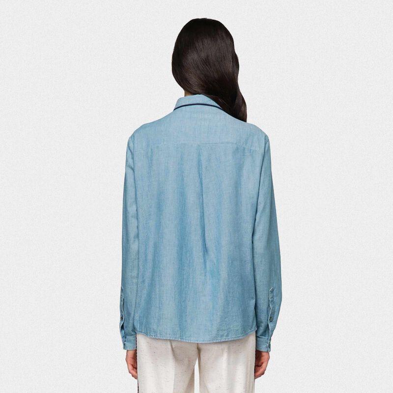 Golden Goose - Alexa shirt in cotton denim in  image number null