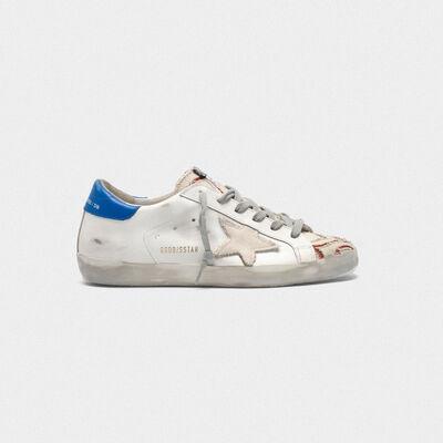 Sneakers Superstar in pelle con inserti in canvas