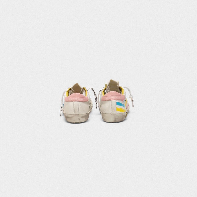 Golden Goose - Sneakers Superstar con stampa flag multicolor in  image number null