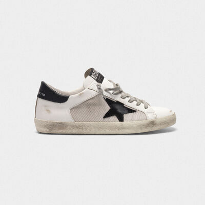 Superstar sneakers in leather with mesh insert