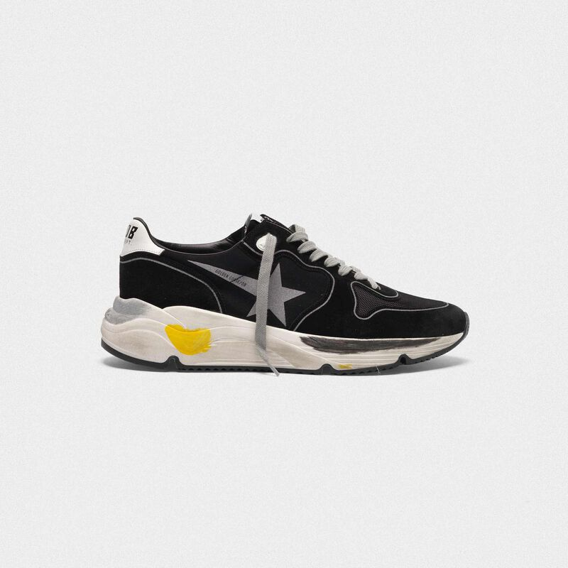 Golden Goose - Running Sole sneakers in leather and Lycra with silver star in  image number null