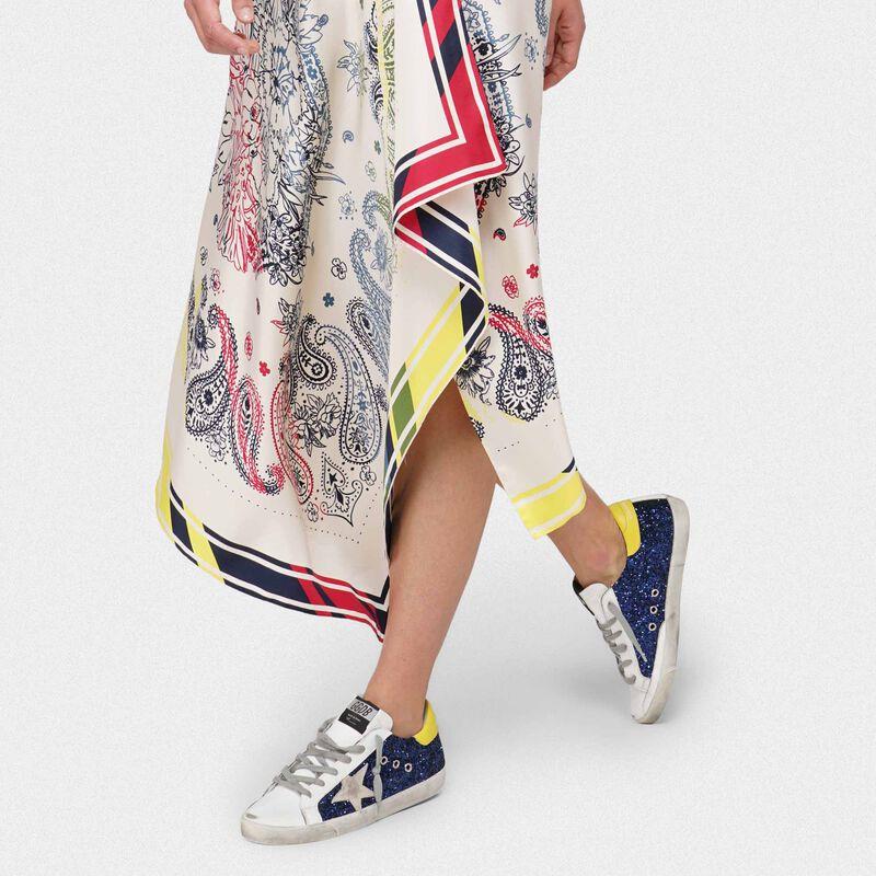 Golden Goose - Gonna Kaylee in pura seta stampa foulard in  image number null