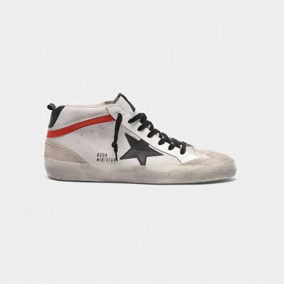 Sneakers Mid-Star in pelle con inserti in nabuk