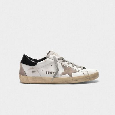 Sneakers Superstar in pelle con talloncino lucido