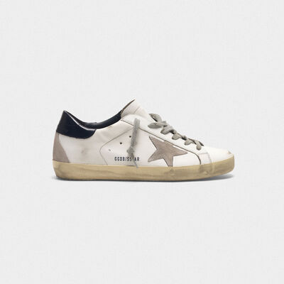 Superstar sneakers in leather with suede star