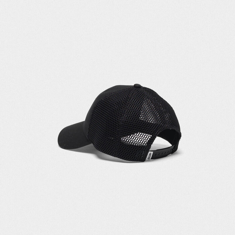 Golden Goose - Aki baseball cap with GG embroidery and mesh back in  image number null