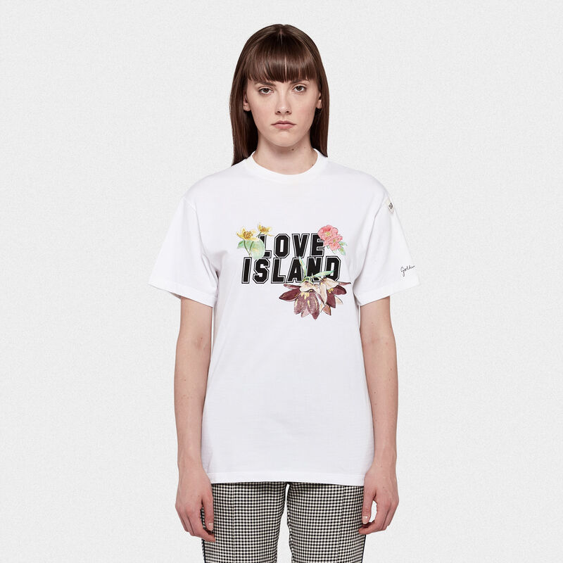 Golden Goose - Golden T-shirt with Love Island print in  image number null
