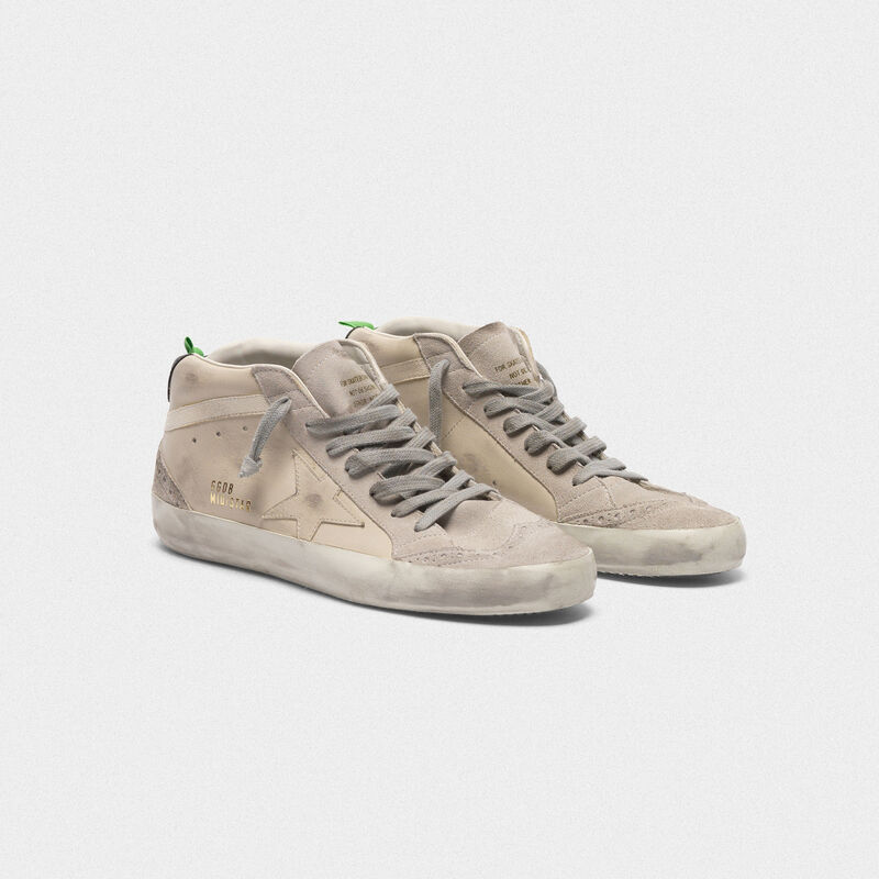 Golden Goose - Mid Star sneakers in smooth leather and suede in  image number null