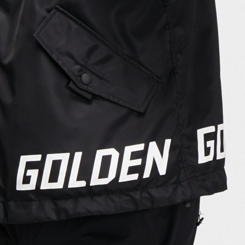 Golden Goose - Giacca a vento Jacob nera con logo   in  image number null