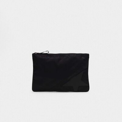 Large black nylon Journey pouch