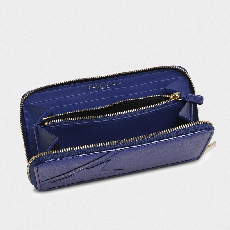 Golden Goose - Large metallic blue Star Wallet   in  image number null