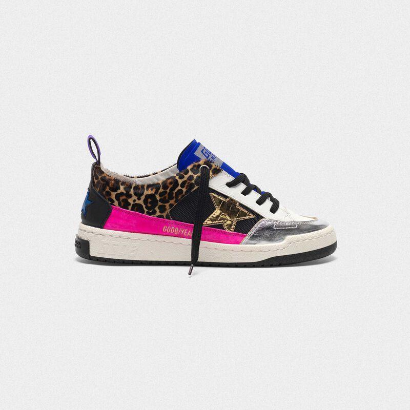 Golden Goose - Sneakers Yeah! cavallino leopardato stella dorata   in  image number null