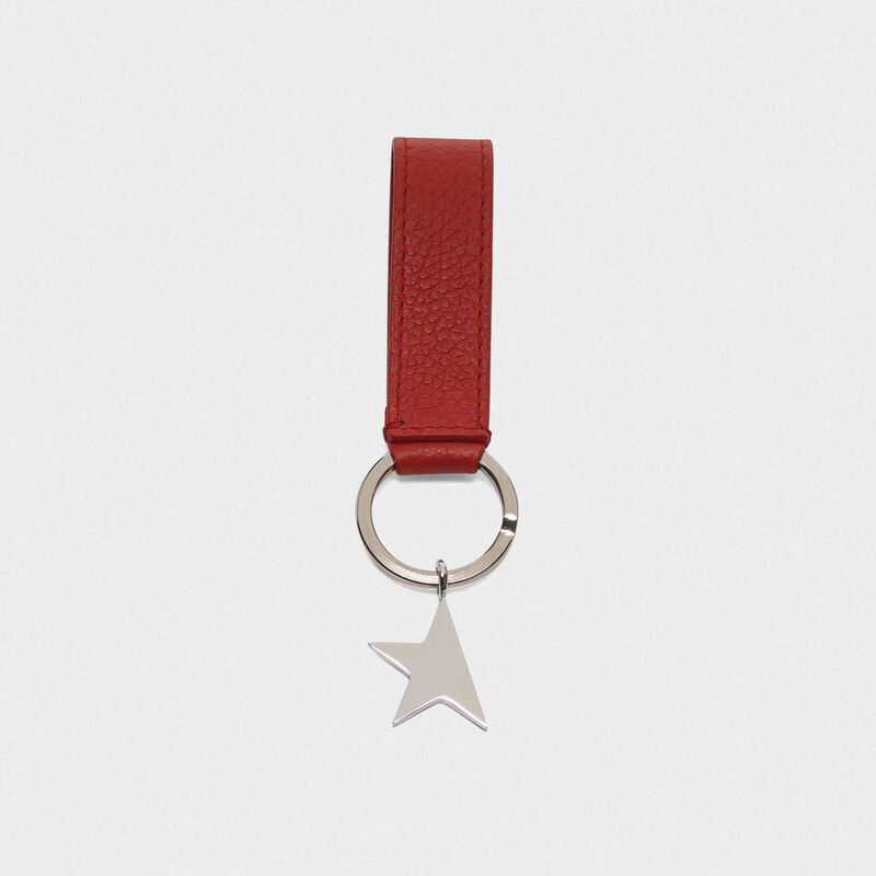 Golden Goose - Red Star Keyring with silver pendant in  image number null