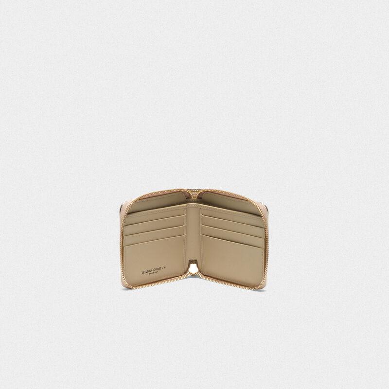 Golden Goose - Portafoglio Star Wallet medium dorato in  image number null
