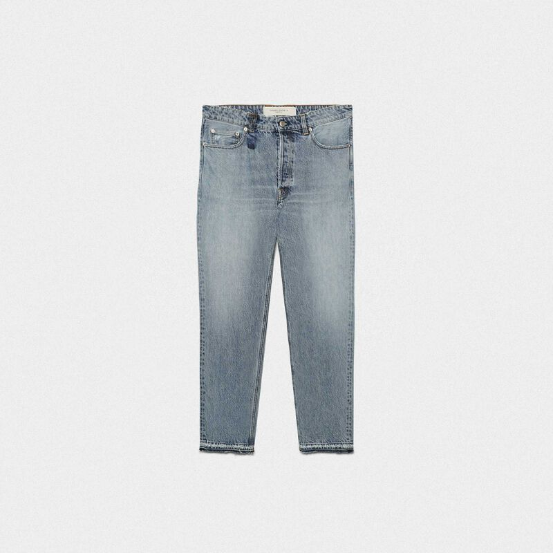 Golden Goose - Slim-fit Happy jeans in cotton in  image number null