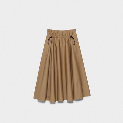 Ayame skirt in taupe cotton