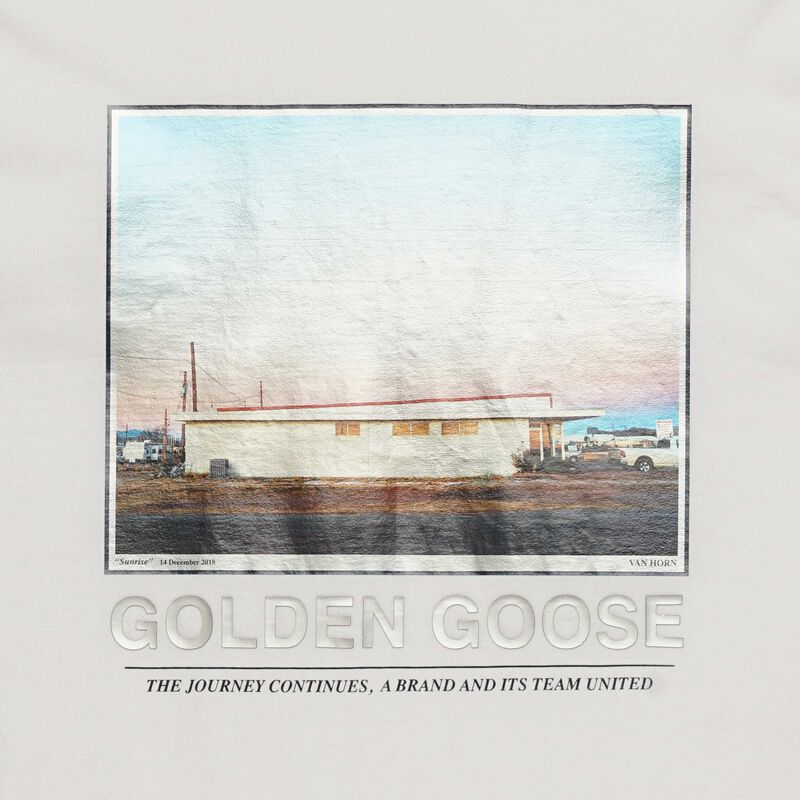 Golden Goose - Parker T-shirt with motel photograph print in  image number null