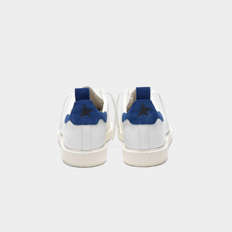 Golden Goose - Starter sneakers in leather with suede heel tab in  image number null