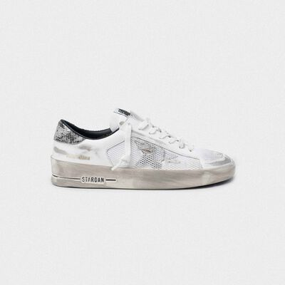 White Stardan sneakers with python heel tab