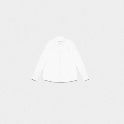 White Madelyn shirt in cotton poplin