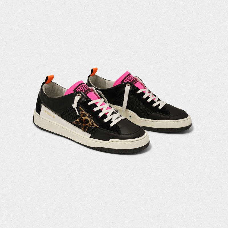 Golden Goose - Sneakers Yeah! nere con stella leopardata in  image number null