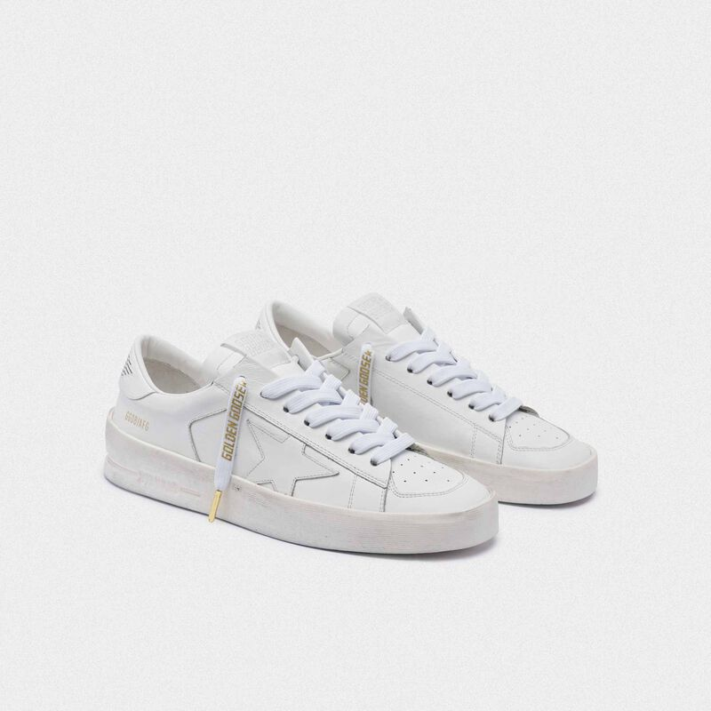 Golden Goose - Women's white laces with gold logo in  image number null