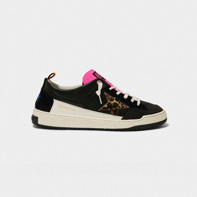 Sneakers Yeah! nere con stella leopardata