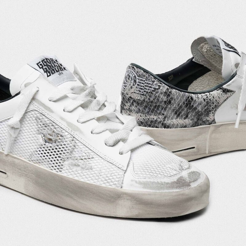 Golden Goose - White Stardan sneakers with python heel tab in  image number null